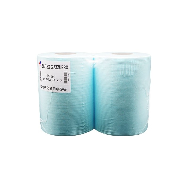 Satex Azzurro 76grammi - 2,5kg H.28x40x310strappi - 2 Rotoli