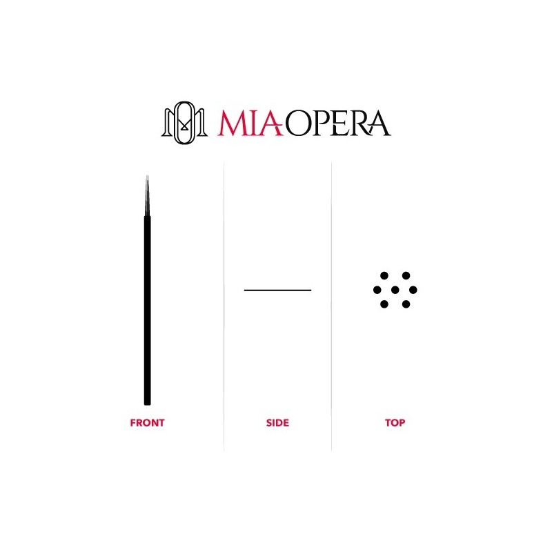 Miaopera Disposable Microblading Blades 10pcs Round Shader