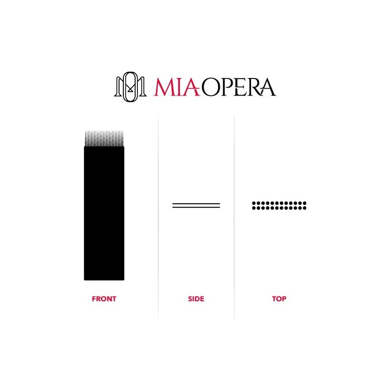 Miaopera Disposable Microblading Blades 10pcs Double Flat
