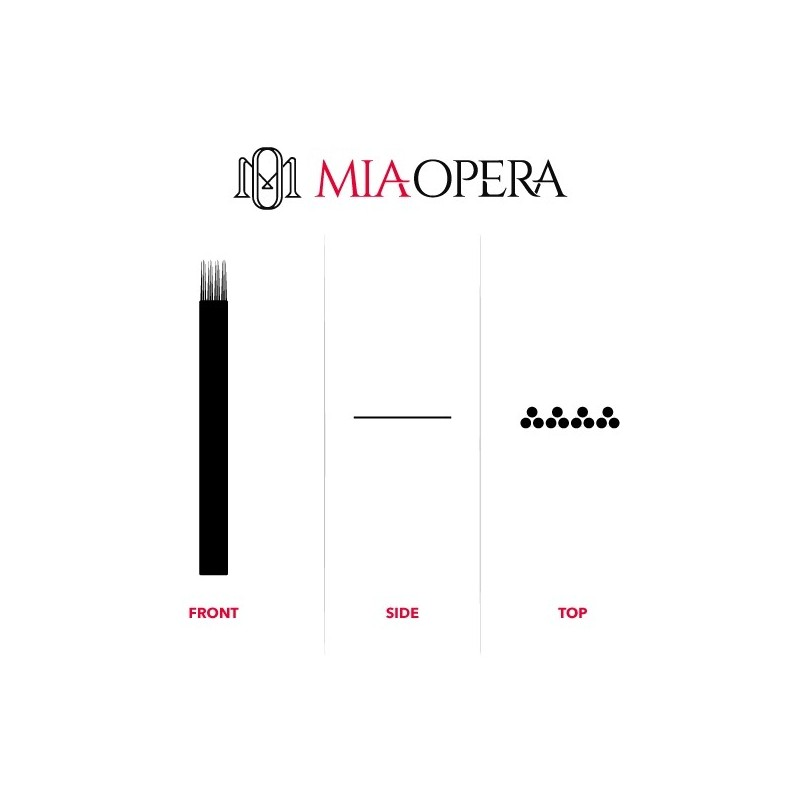Miaopera Disposable Microblading Blades 10pcs - 0,30mm Quadruple Q3...