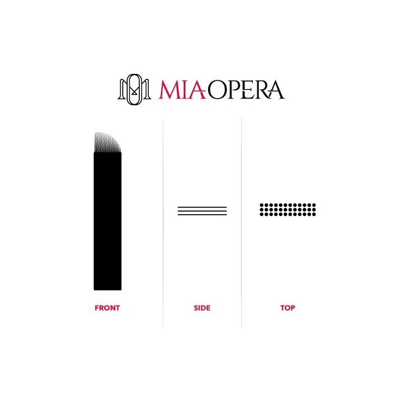 Miaopera Disposable Microblading Blades 10pcs - 0,30mm Microshading...