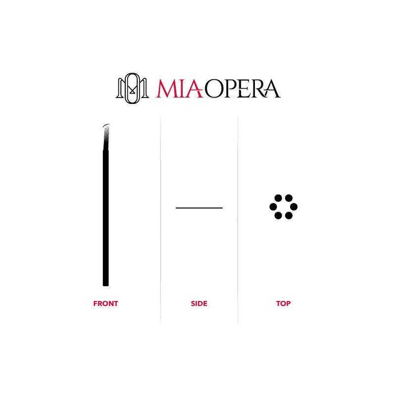 Miaopera Disposable Microblading Blades 10pcs - 0,30mm Slope Round...
