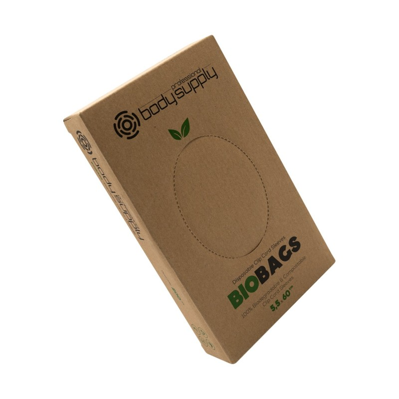 Bodysupply Biodegradable Clipcord Sleeves 200pcs - 5,5x60cm