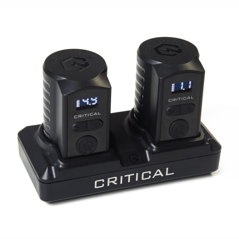 Critical Battery Set - Dock + 2 Batterie 3.5mm Femmina