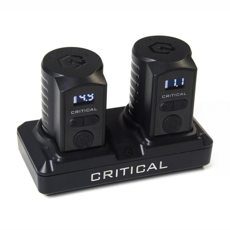 Critical Battery Set - Dock + 2 Batterie 3.5mm Femmina