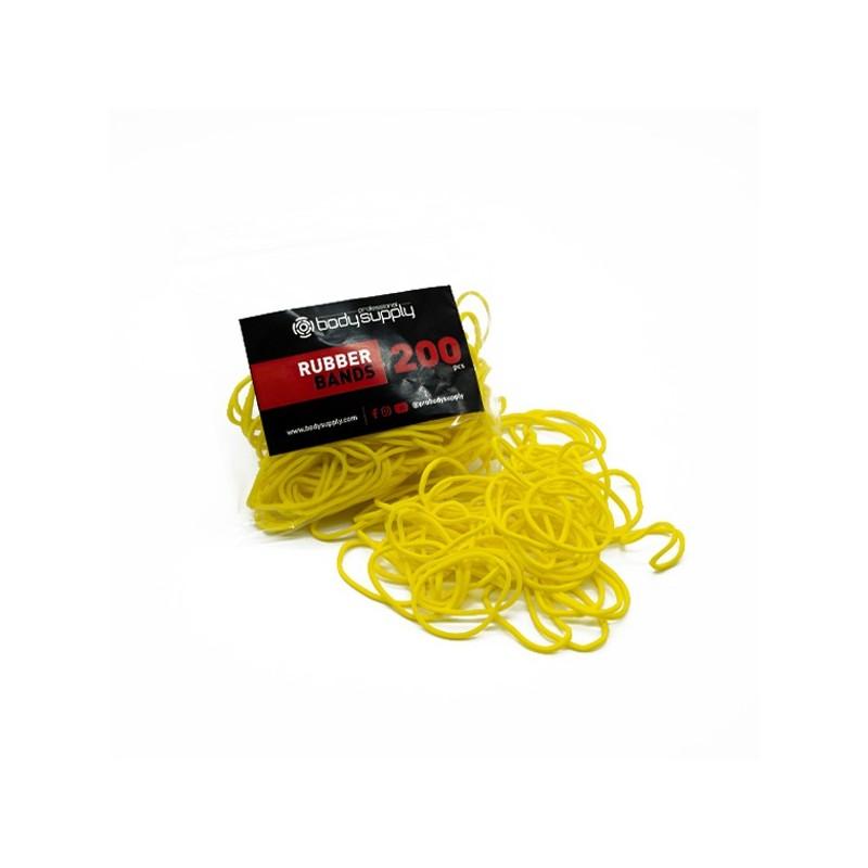 Bodysupply Elastici Colorati 200pcs - Giallo