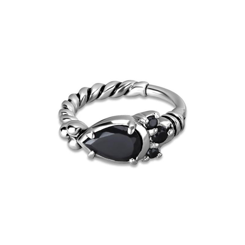 Hinged Ring W/zirconia Mod.12