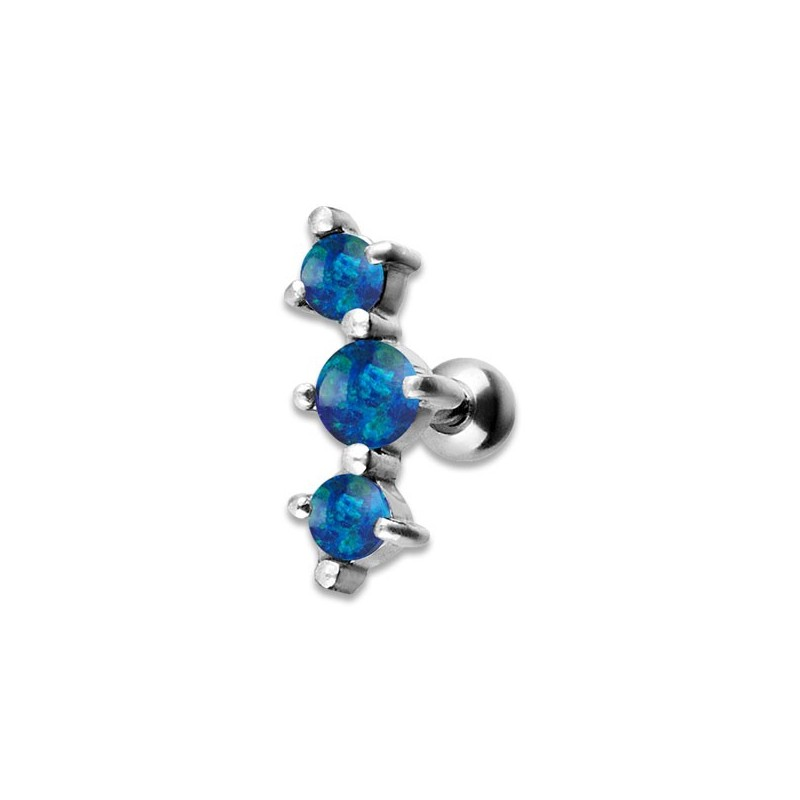 Jewelled 3 Helix Barbell 2.5/3/2.5