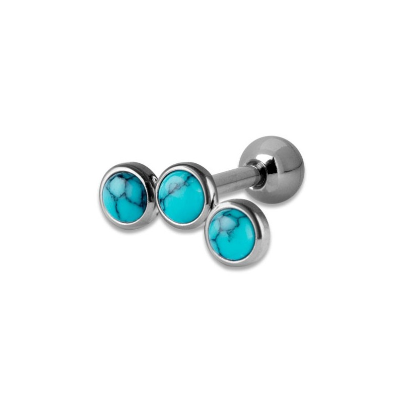 Helix Turquoise Flat Disc Stones 1,2x6mm 3-3-3