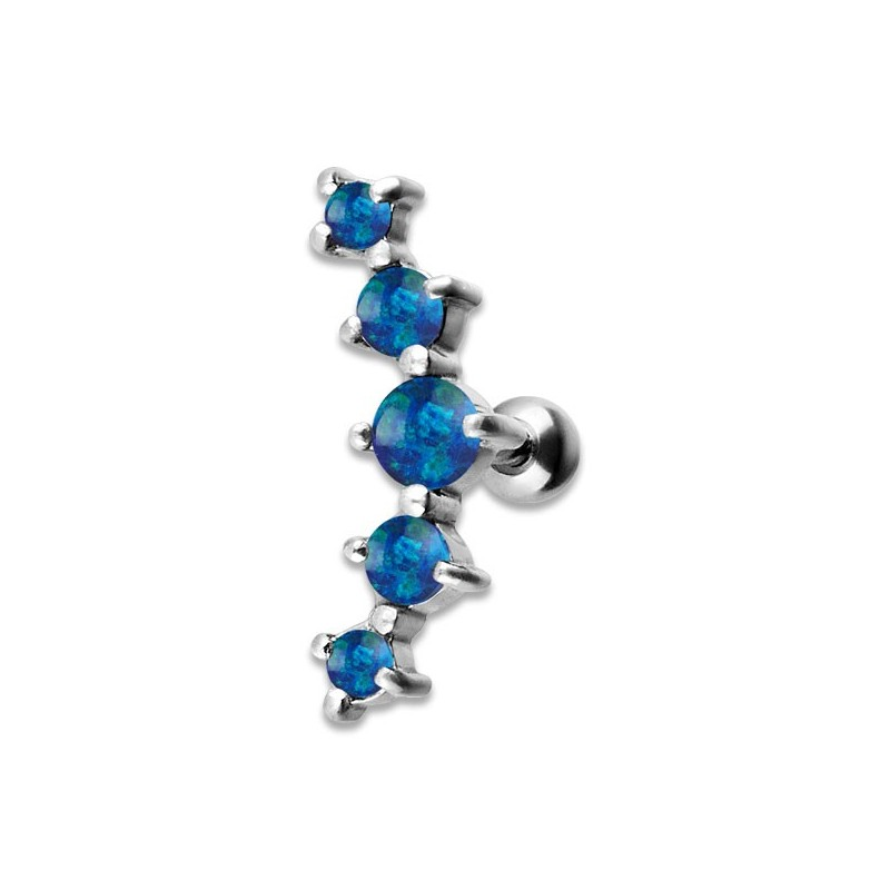 Jewelled 5 Helix Barbell 2/2.5/3/2.5/2