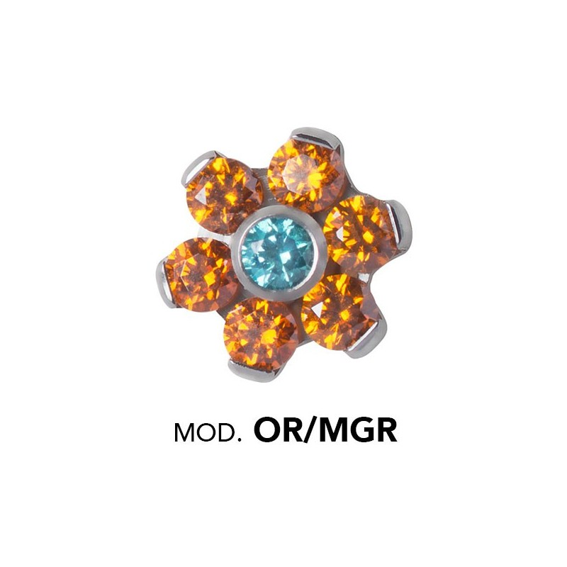 Titanium Micro Flowers For Micro Barbells