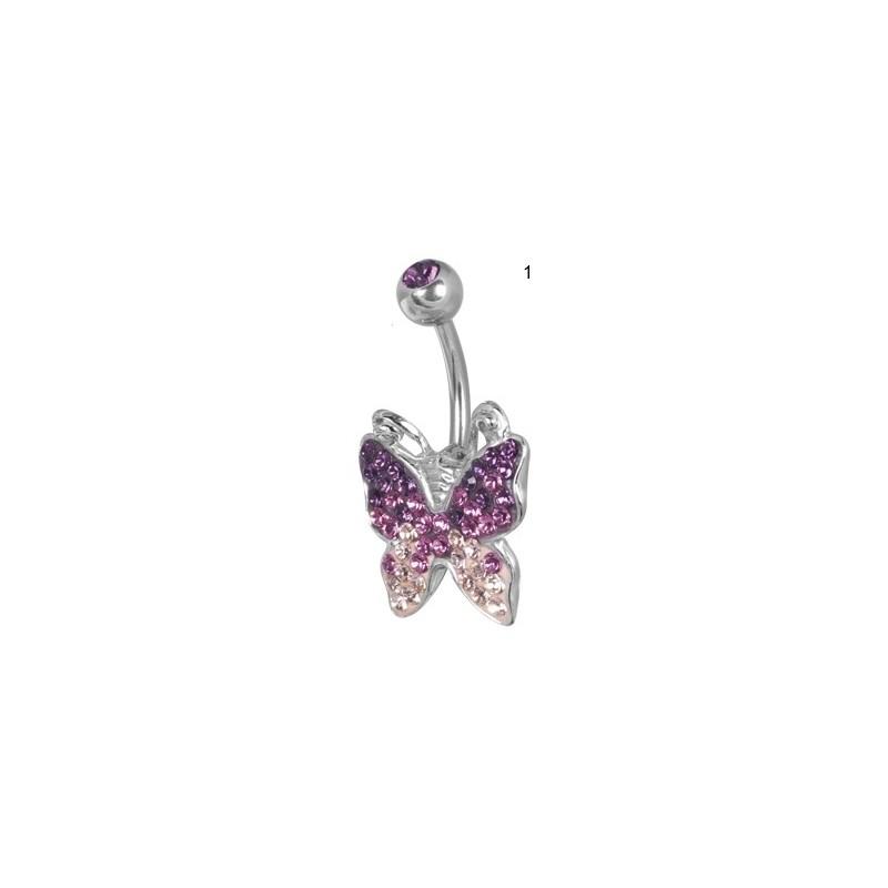 Ce Titanium Crystal Butterfly Banana