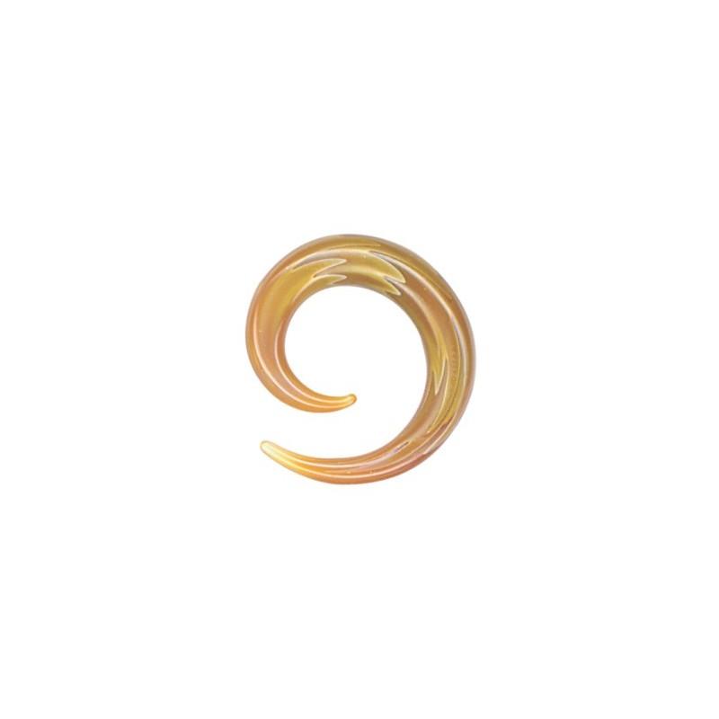 Pirex Spiral Amber