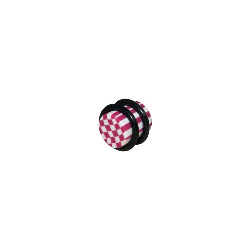 Chequered Fimo Plugs