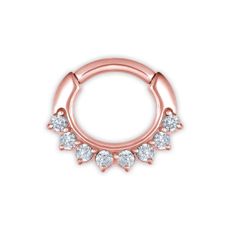Rg 316 Jewelled Curved Bar Septum Clickers