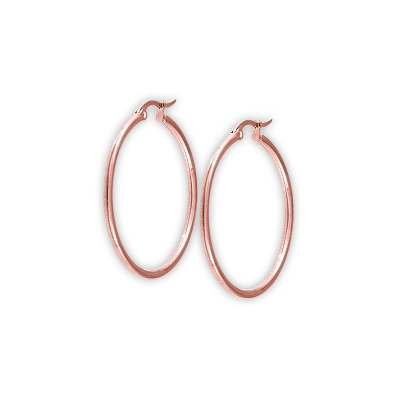 Rg 316 Steel Round Hoop Earrings (2mm)