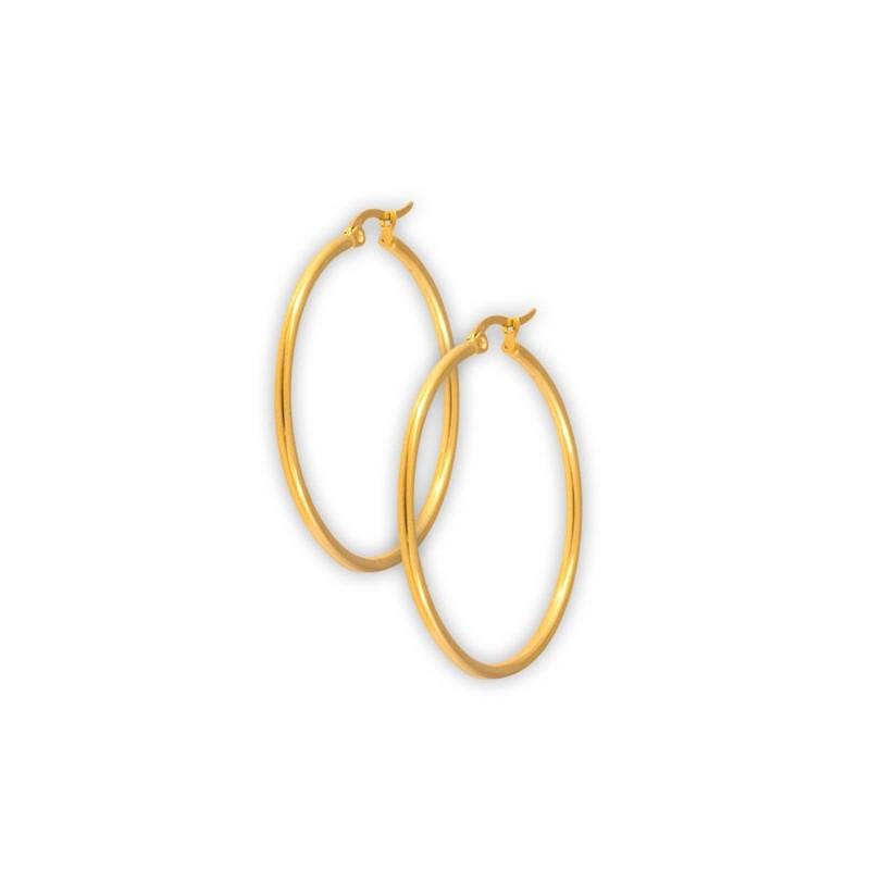 Gd 316 Round Hoop Earrings (2mm)