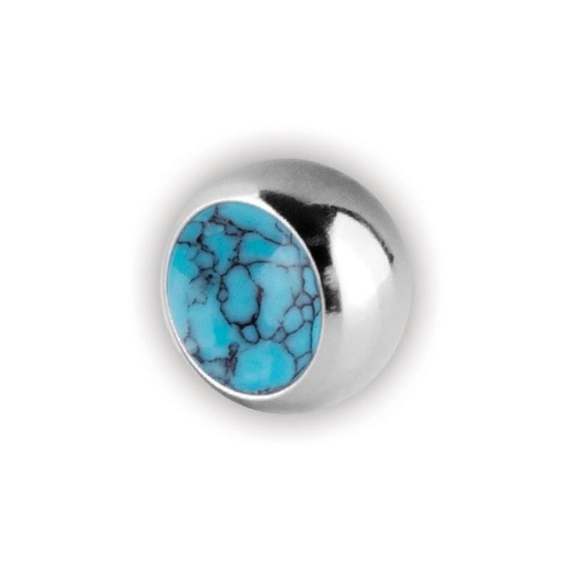 Turquoise Stone Screw-on Balls