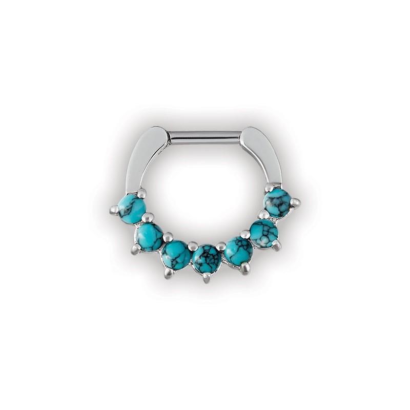 Turquoise Stone Septum Clickers