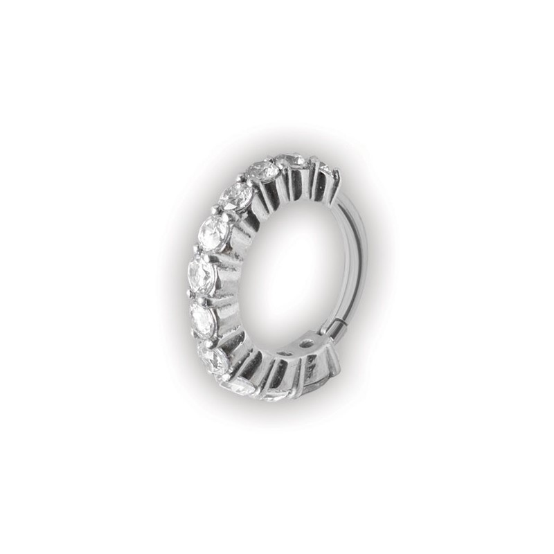 Hinged Ring W/ Crystal
