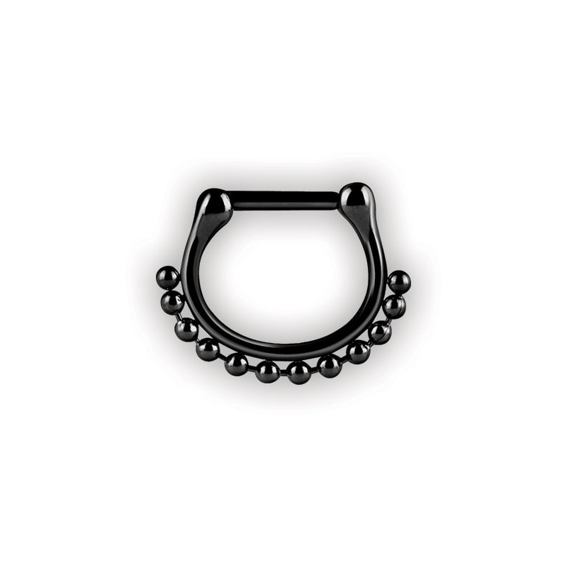 Bk 316 Septum Clickers Side Ball Chain