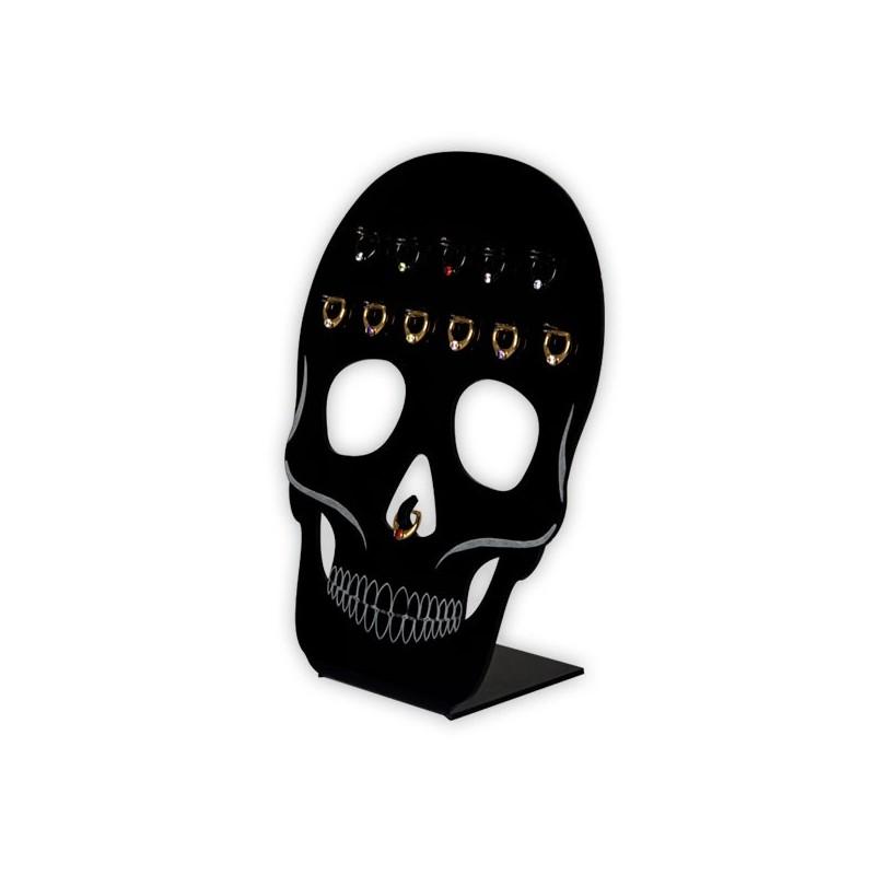 Acrylic Skull Stand For Septum 12pcs