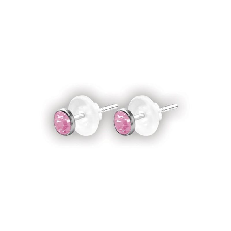 Flat Jewelled Disc Ear Studs