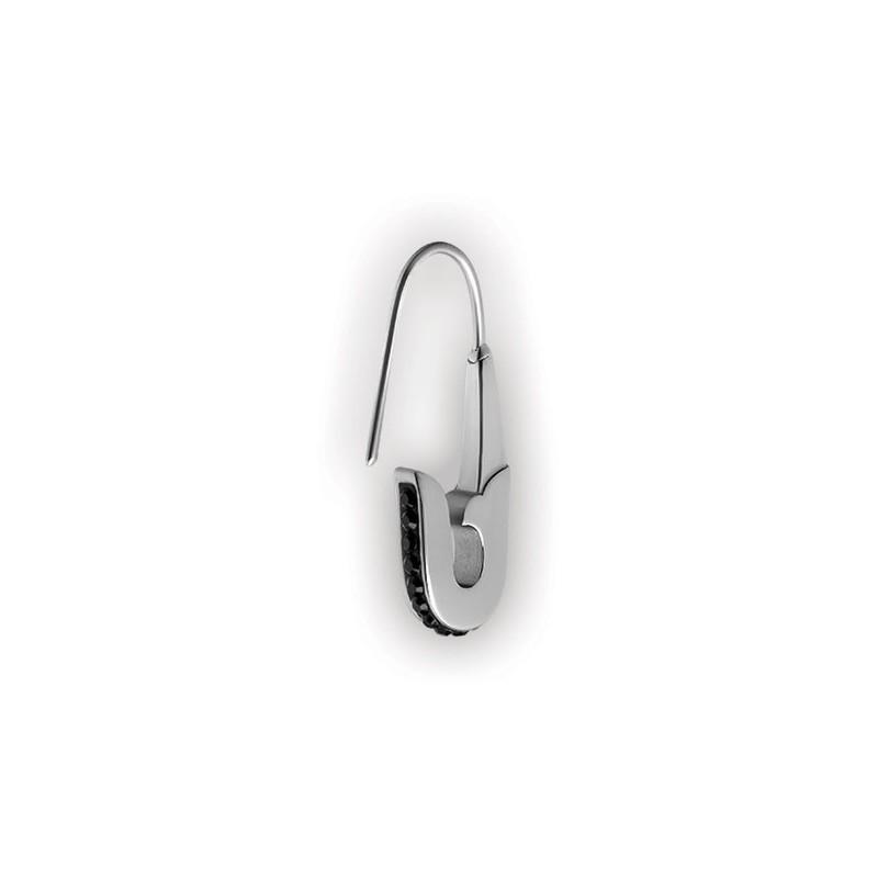 Small Crystal Safty Pin Ear Rings