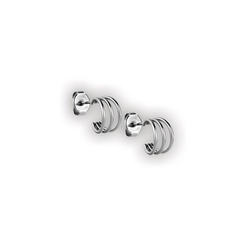 Steel Triple Hoops Earstuds