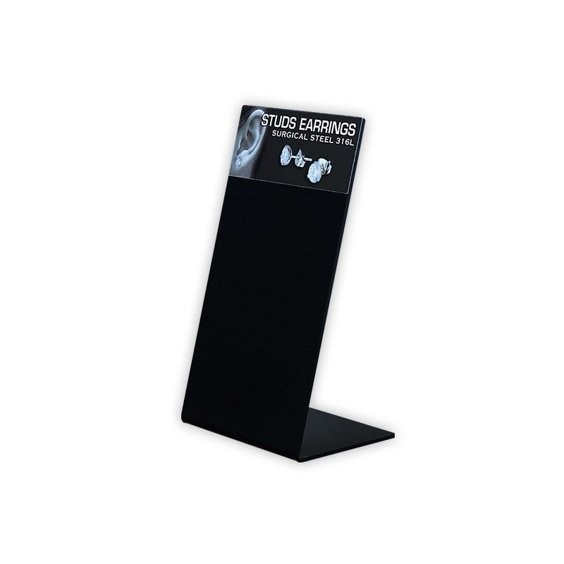 Acrylic Stand For Ear Studs (36 Pair) 10x18cm
