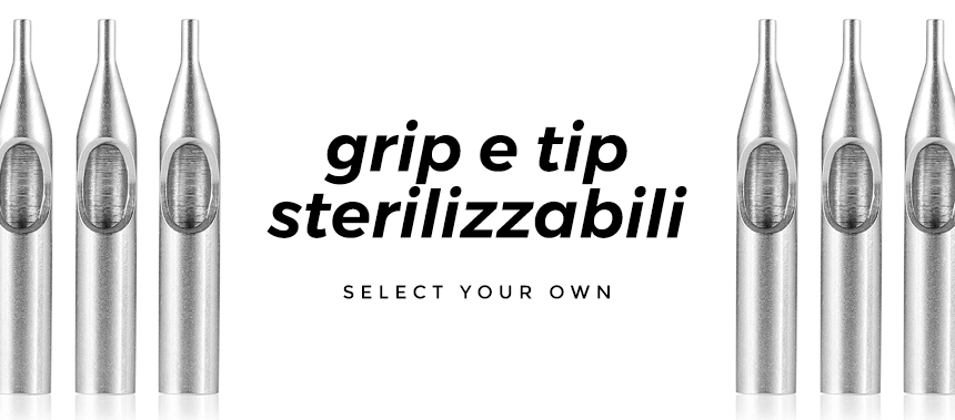 Atelier Tattoo Supply - grip e tip sterilizzabili